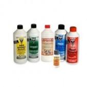 Комплект из всех 6 удобрений Hesi для гидропонных грунтов по 1 литру.